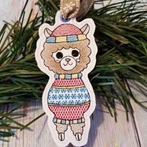 Ugly Sweater Llama Ornament