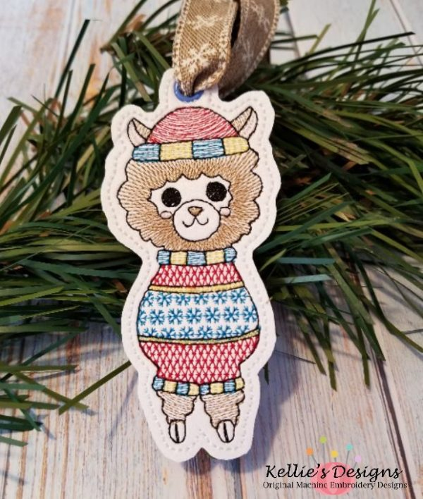 Ugly Sweater Llama Ornament