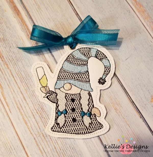 Mrs Champagne Gnome Ornament