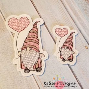 Heart Balloon Gnome Feltie Set