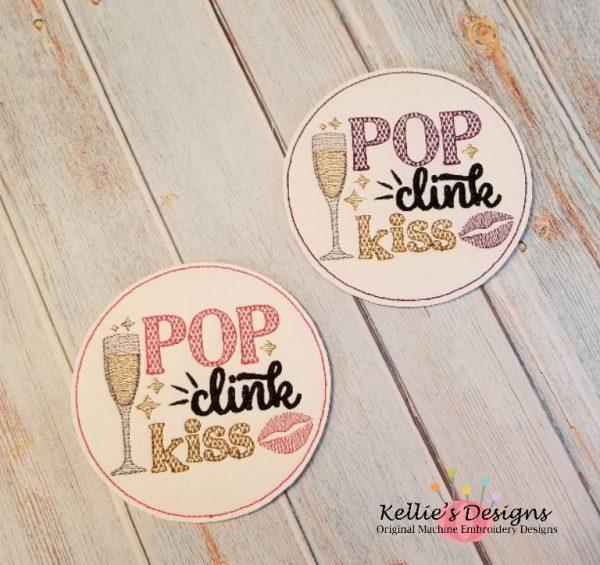 Pop Clink Kiss Coaster