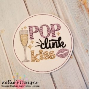 Pop Clink Kiss Coaster