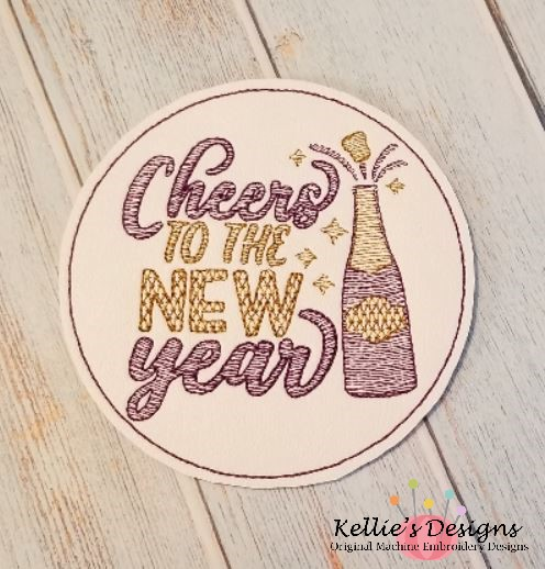 Cheers To The New Year Coaster