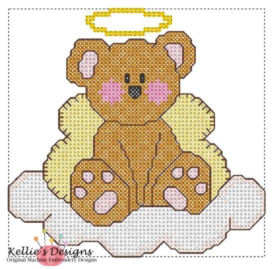 Cross Stitch Teddy Angel
