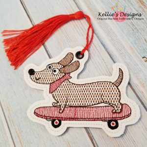 Skateboard Dog Ornament
