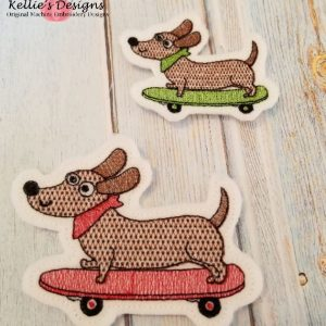 Skateboard Dog Feltie Set