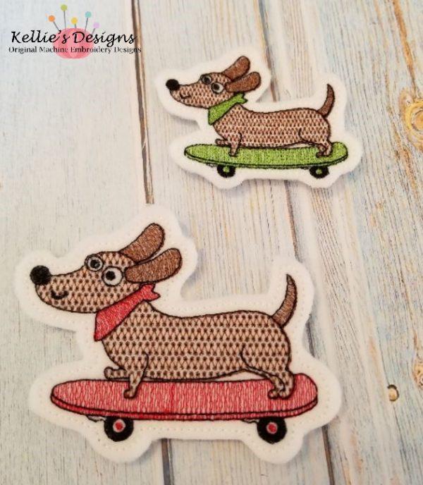 Skateboard Dog Feltie Set