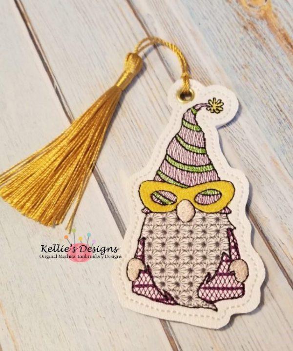 Mr Mardi Gras Gnome Ornament