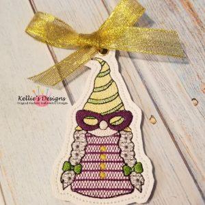 Mrs Mardi Gras Gnome Ornament