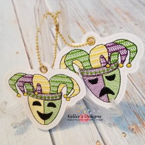 Mardi Gras Mask Tags