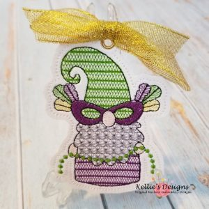 Mardi Gras Bead Gnome Ornament