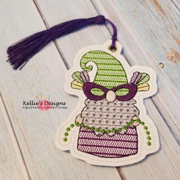 Mardi Gras Bead Gnome Ornament