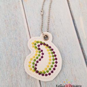 Mardi Gras Beads Charm