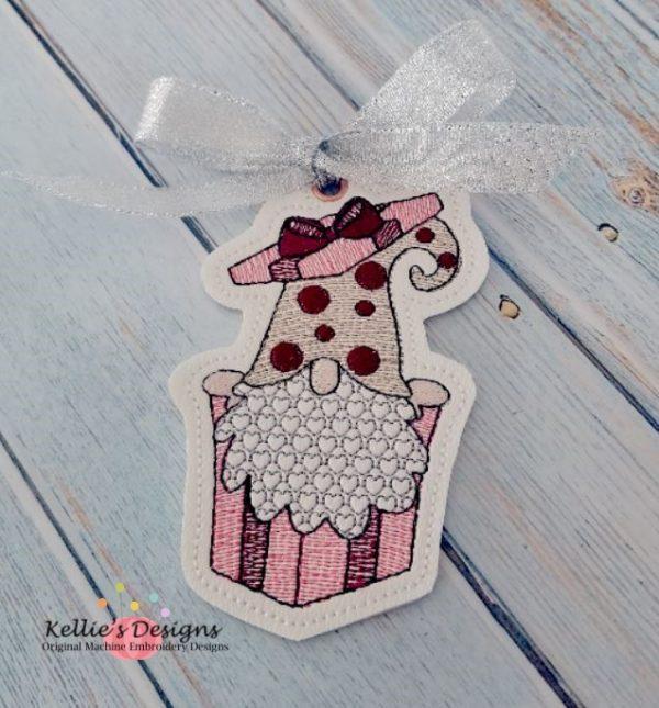 Valentine Present Gnome Ornament