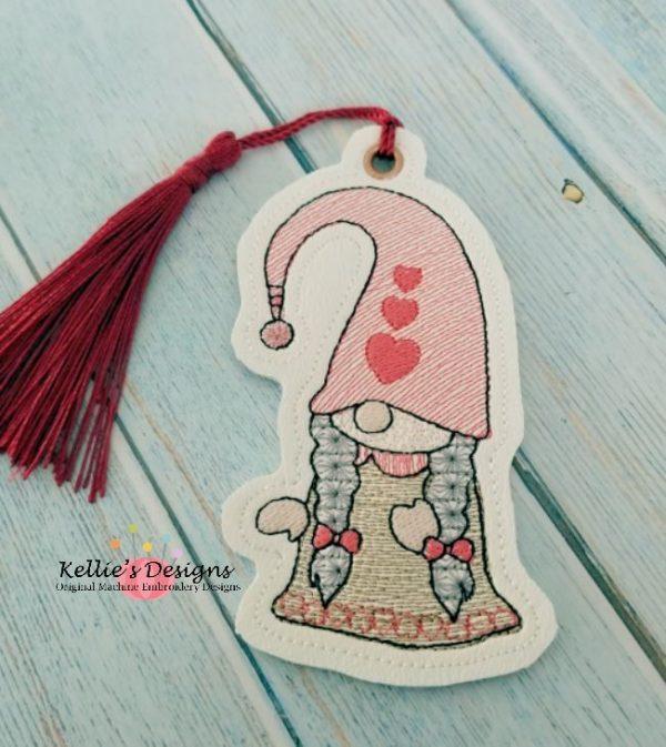 Mrs Valentine Gnome Ornament