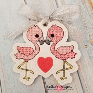 Flamingo Love Ornament