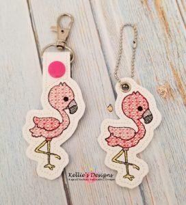 Flamingo Snap Tab Set