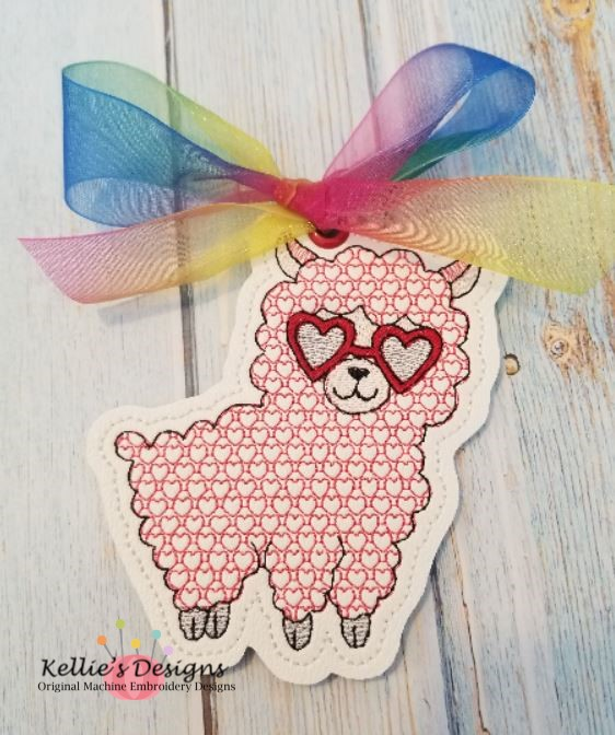 Valentine Llama Ornament