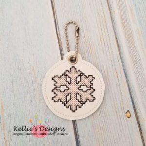 Cross Stitch Snowflake Charm