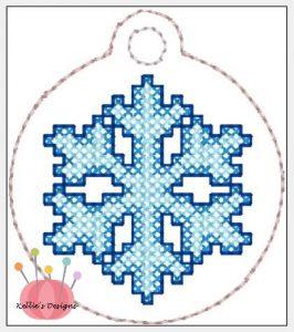 Cross Stitch Snowflake Charm