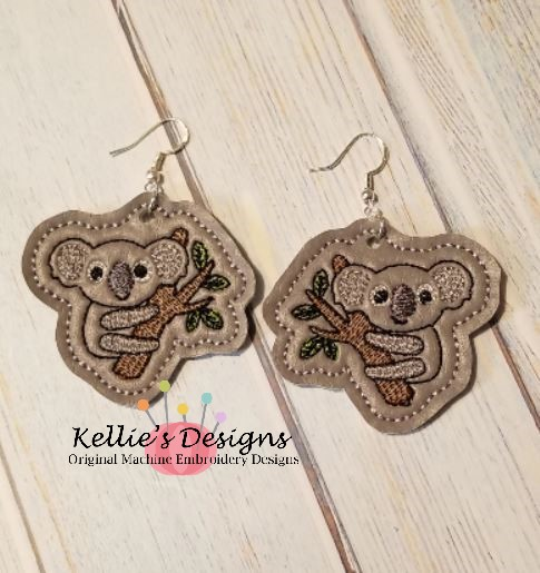 Koala In Tree Earrings