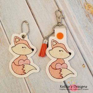 Valentine Fox Snap Tab Set