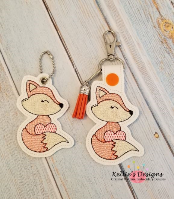 Valentine Fox Snap Tab Set