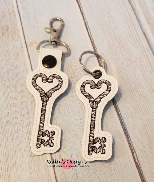 Key To My Heart Snap Tab Set