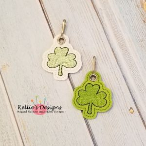 Shamrock Zipper Pull