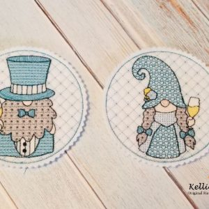 Gnome Bride and Groom Coaster Set