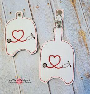 Heart Stethoscope Hand Sanitizer Set
