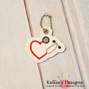 Heart Stethoscope Charm