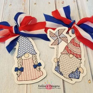 Mr & Mrs Patriotic Gnome Set
