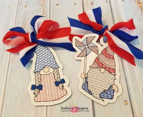 Mr & Mrs Patriotic Gnome Set