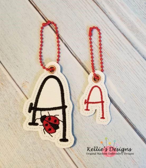 Ladybug Letter A Charm Set