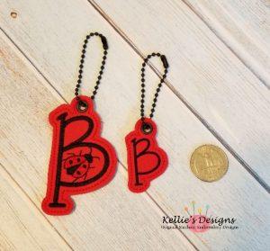 Ladybug Letter B Charm Set