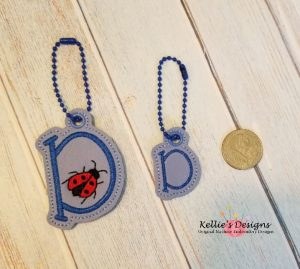 Ladybug Letter D Charm Set
