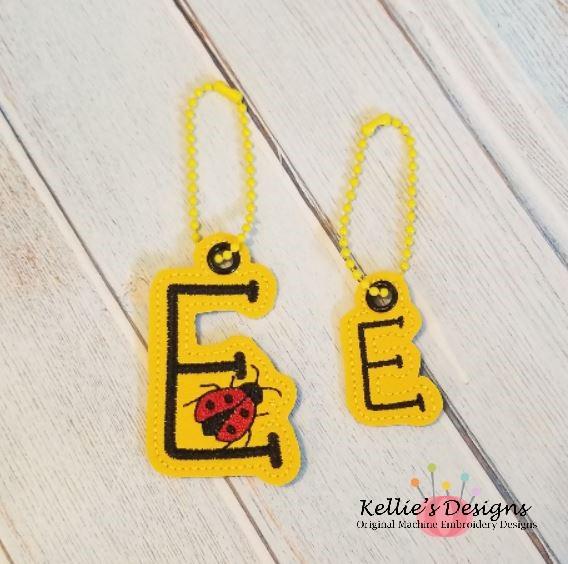 Ladybug Letter E Charm Set