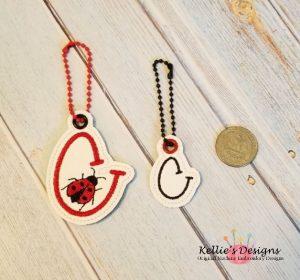 Ladybug C Charm Set