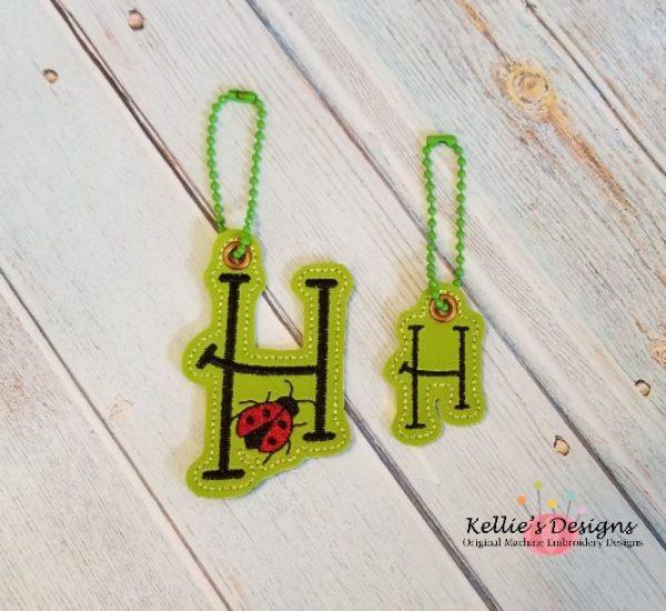 Ladybug Letter H Charm Set