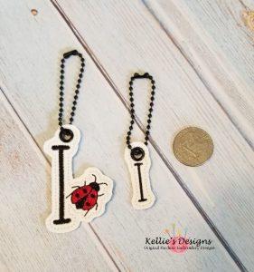 Ladybug Letter I Charm Set