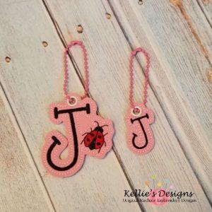 Ladybug Letter J Charm Set
