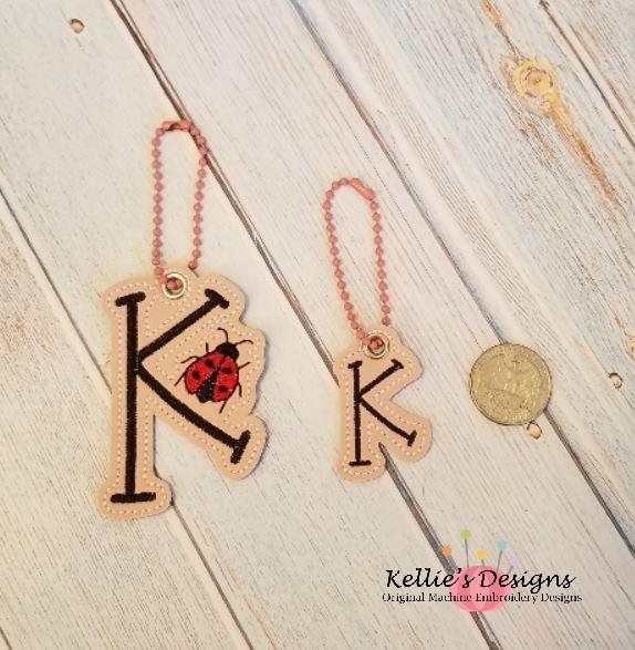 Ladybug Letter K Charm Set