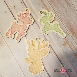 Reindeer Ornament Trio