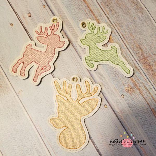 Reindeer Ornament Trio