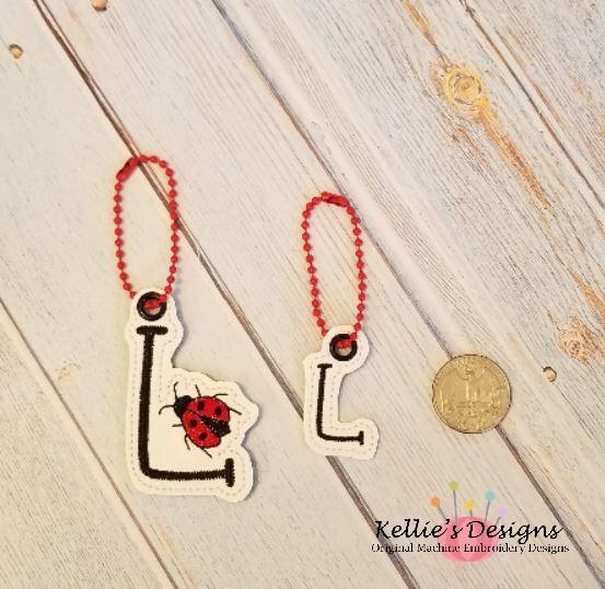 Ladybug Letter L Charm Set