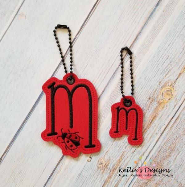 Ladybug Letter M Charm Set