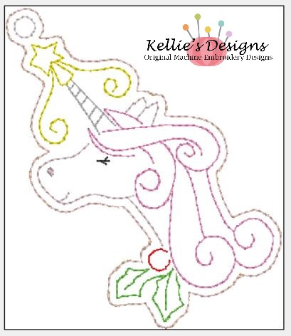 Whimsical Christmas Unicorn Ornament #1