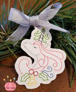 Whimsical Unicorn Ornament #7