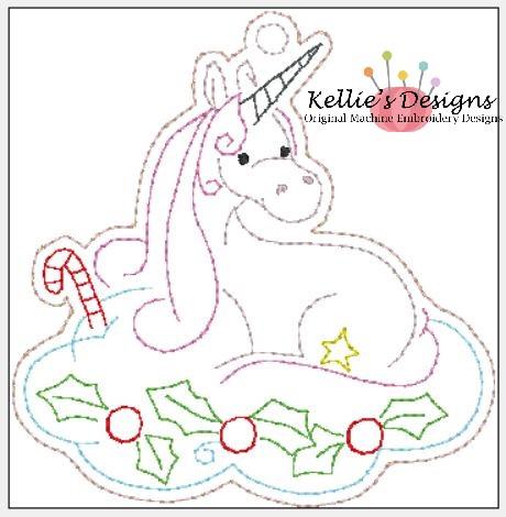 Whimsical Unicorn Ornament #9